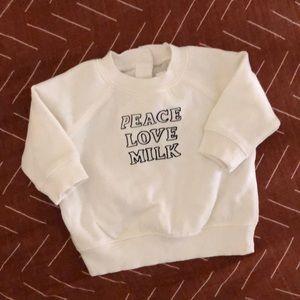 Baby Peace Love Milk Sweatshirt